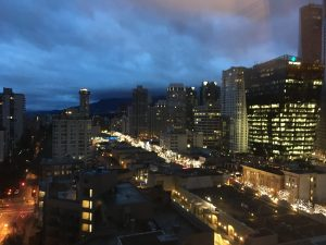 View of Vancouver from my hotel
