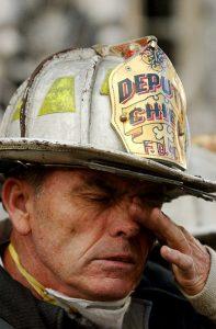 Fireman soot